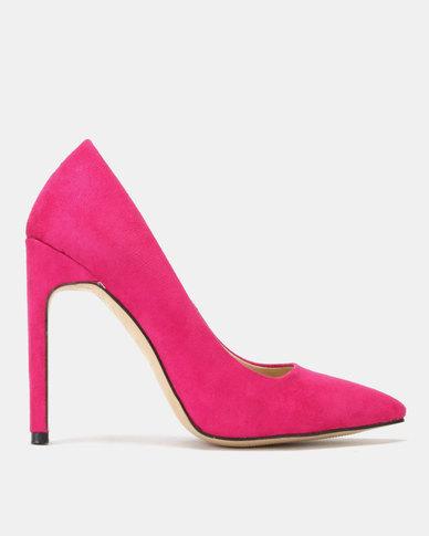 Public Desire Miriam Heels Hot Pink Faux SU