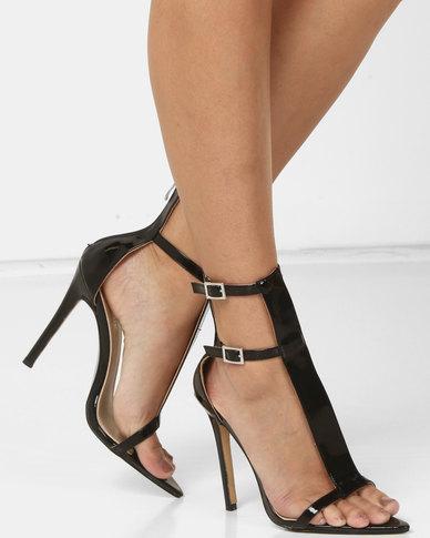 Public Desire Sculpt Heels Black Patent