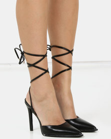 Public Desire Private Heels Black PU