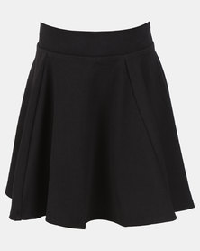 New Look Riverpool Skater Skirt Black
