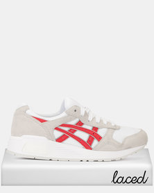 Asics Tiger Lyte-Trainers White/Classic Red