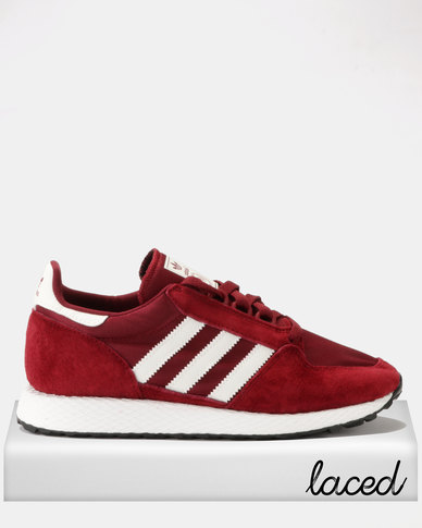 tout neuf 61d59 791ac adidas Originals Forest Grove Sneakers Collegiate Burgundy/Cloud White/Core  Black