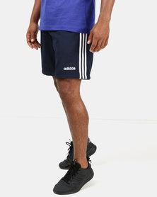 adidas Performance Mens 3S Woven Shorts Blue