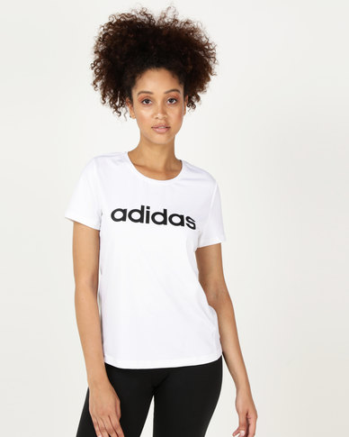 adidas Performance D2M Logo Tee White