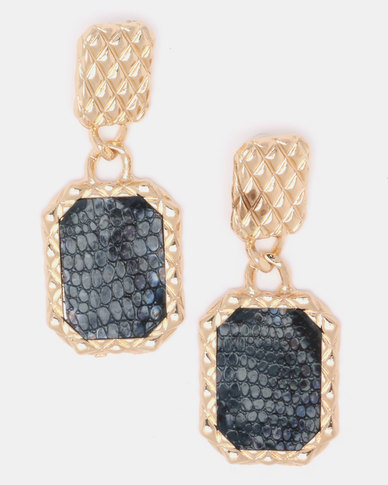 Black Lemon Dolce Drop Earrings Black