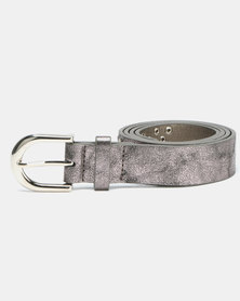 Queenspark Multi Stud Belt With Curved Circle Pewter