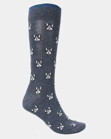 JCrew Bulldog Socks Navy