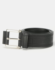 JCrew Broad Stitched Belt Black