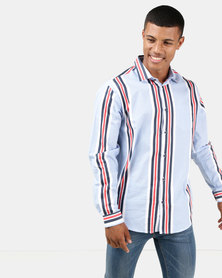 JCrew Stripe Shirt Blue Multi