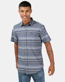 JCrew Multi Stripe Shirt Blue