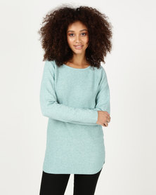 cath.nic By Queenspark Moss Stitch Jersey Green