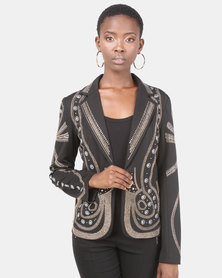 cath.nic By Queenspark Catwalk Glam Knit Jacket Black