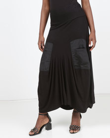 Queenspark Private Label Knitted Maxi Skirt Black