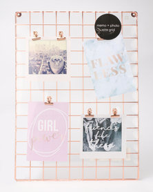 New Look Clean Memo Board Rose Gold