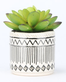 New Look Mini Tile Print Plant Multi