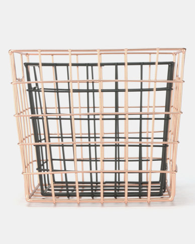 New Look 2 Pack Mini Wire Storage Multi