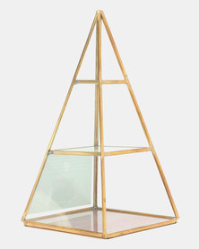 New Look Pyramid Jewelry Stand Gold
