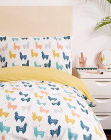New Look Llama Desert Single Bedding Multi