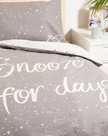 New Look Snooze Single Bedding Grey