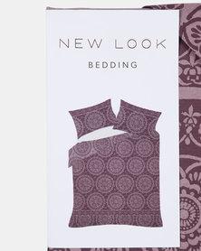New Look Single Tile Border Bedding Maroon
