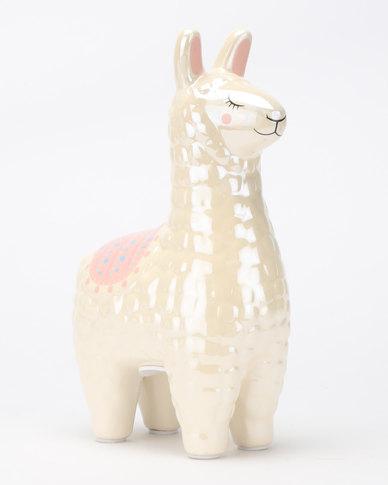 New Look Llama Moneybox Neutral