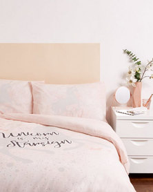 New Look Unicorn Double Bedding Pink