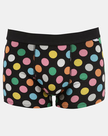 Happy Socks Big Dot Trunks Black