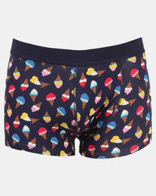 Happy Socks Ice Cream Trunks Navy