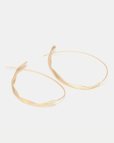CurAtiv Karachi Twisted Hoop Earrings Gold