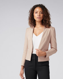 Ashley L Blazer Dusty Blush