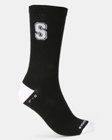 Sexy Socks Ribbed Active S-Factor Black