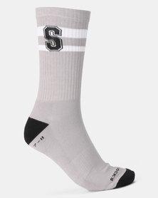 Sexy Socks Ribbed Active S-Factor Grey