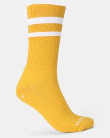 Sexy Socks Ribbed Active Banded Socks Hot Mustard