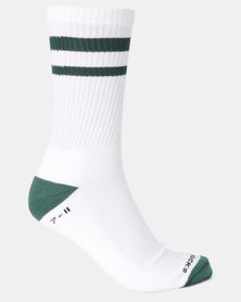 Sexy Socks Ribbed Active Banded Socks White