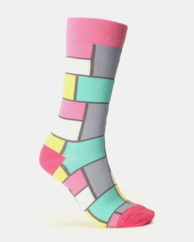 Sexy Socks Pastel De Stijl Bamboo Socks Multi