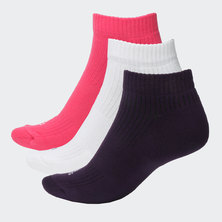 3-STRIPES PERFORMANCE NO-SHOW SOCKS 3 PAIRS