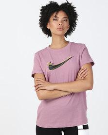 Nike W NSW Double Swoosh Tee  Purple