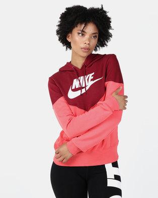 Nike W NSW Heritage Hoodie Fleece Red f0959379e6ab