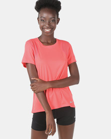 Nike Performance Short Sleeve Running Top Embre Glow