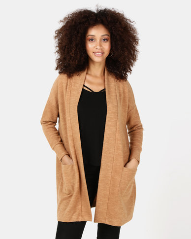 Paige Smith Cardigan With Pockets Camel