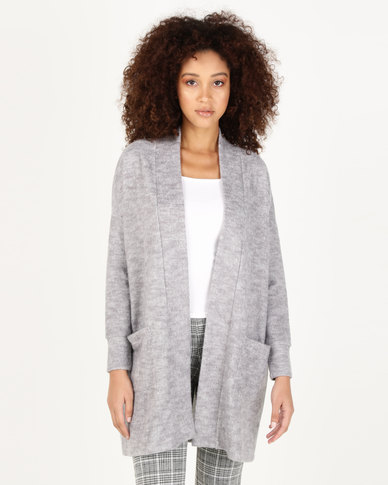 Paige Smith Cardigan With Pockets Light Grey