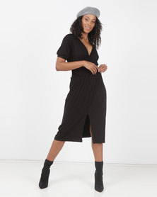 Utopia Flare Knit Dress Black