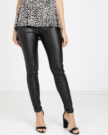 QUIZ High Waist Skinny Jeans Black