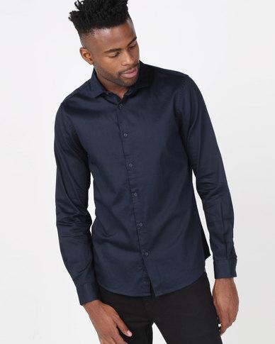 Nines Oliver Shirt Navy