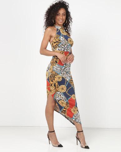 Sissy Boy Halterneck Printed Maxi Dress Multi
