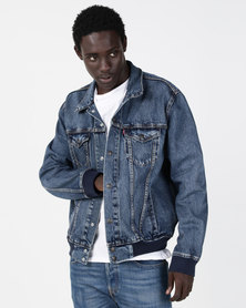 Levi's® Bomber Trucker Jacket Blue