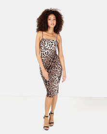 Sissy Boy Animal Print Midi Dress Multi
