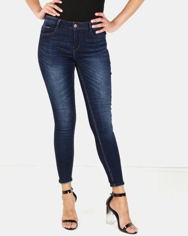 Sissy Boy Axel Mid-Rise Basic Skinny Jeans Dark Blue