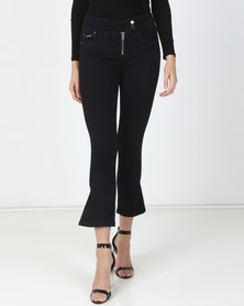 Sissy Boy Side Zip Detail Skinny Jeans Blue Black