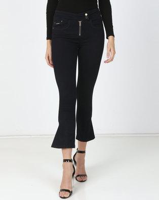 Sissy Boy Side Zip Detail Skinny Jeans Blue Black